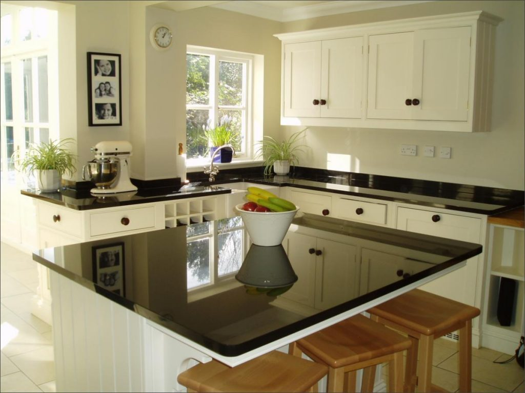 kitchen island black granite top 5 ways to make your kitchen look bigger affordable 24741